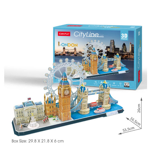 city line london puzzle 3d